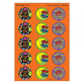 Happy Halloween/Rootbeer Stinky Stickers, 60 ct.