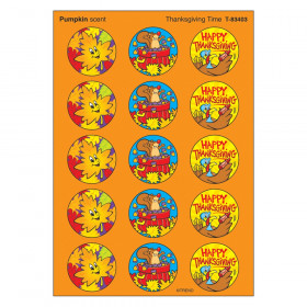 Thanksgiving Time/Pumpkin Stinky Stickers, 60 ct.
