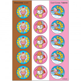 Cool Cones/Chocolate Stinky Stickers® – Large Round