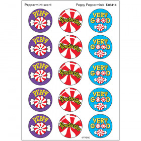 Peppy Peppermints/Peppermint Stinky Stickers® – Large Round