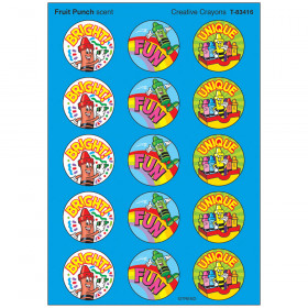 Creative Crayons/Fruit Punch Stinky Stickers® – Large Round