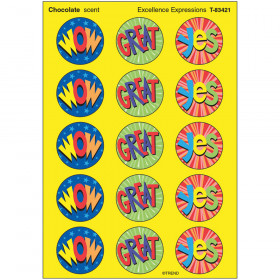 Excellence Expressions/Chocolate Stinky Stickers® – Large Round
