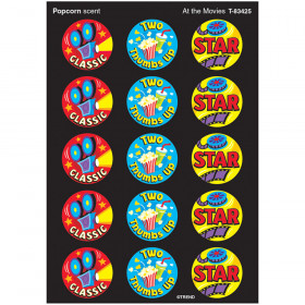 At the Movies/Popcorn Stinky Stickers® – Large Round