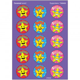 Superstars/Caramel Stinky Stickers® – Large Round
