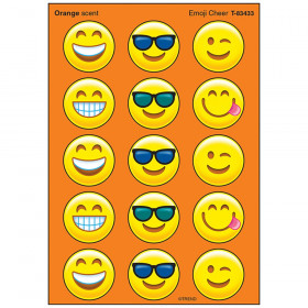 Emoji Cheer/Orange Stinky Stickers® – Large Round