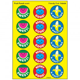 Friendly Fruit/Fruit Punch Stinky Stickers® – Large Round