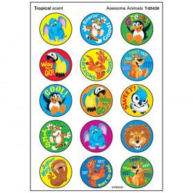 Awesome Animals/Tropical Stinky Stickers® – Large Round