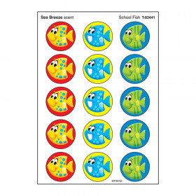 School Fish/Sea Breeze Stinky Stickers® – Large Round