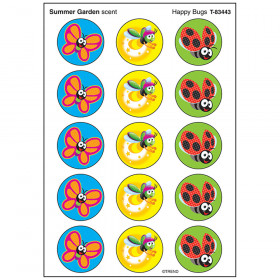 Happy Bugs/Summer Garden Stinky Stickers® – Large Round