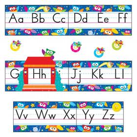 Owl-Stars!® Alphabet Line Standard Manuscript Bulletin Board Set
