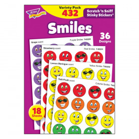 Smiles Stinky Stickers Variety Pack, 432 ct