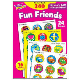 Fun Friends Stinky Stickers Variety Pack, 240 ct.