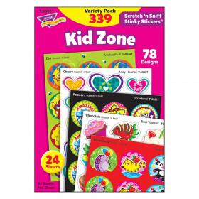 Kid Zone Stinky Stickers Scratch N Sniff Variety Pk
