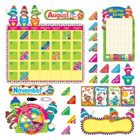 Sock Monkeys Calendar Bulletin Board Set