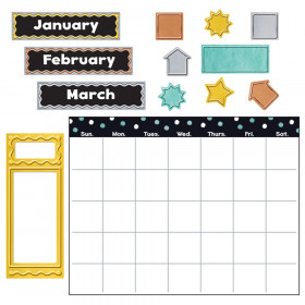 I  Metal Wipe-Off Calendar Bulletin Board Set