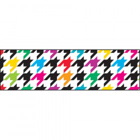 Houndstooth Multicolor Bolder Borders, 35.75'