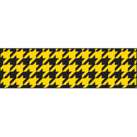Houndstooth Yellow Bolder Borders®