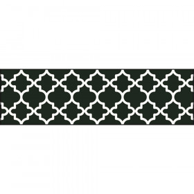 Moroccan Black Bolder Borders, 35.75'