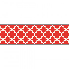 Moroccan Red Bolder Borders, 35.75'