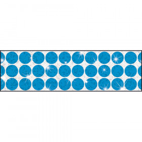 Big Dots Blue Bolder Borders® – Sparkle Plus