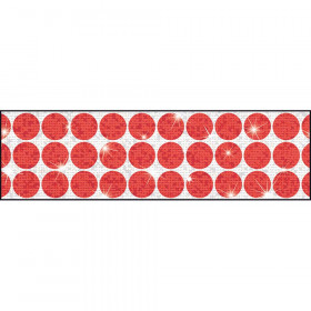 Big Dots Red Bolder Borders® – Sparkle Plus