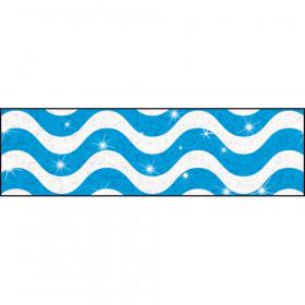 Wavy Blue Bolder Borders® – Sparkle Plus
