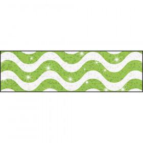 Wavy Lime Bolder Borders® – Sparkle Plus