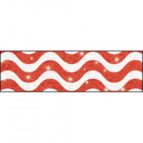 Wavy Red Bolder Borders® – Sparkle Plus