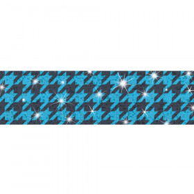 Houndstooth Blue Bolder Borders® – Sparkle Plus