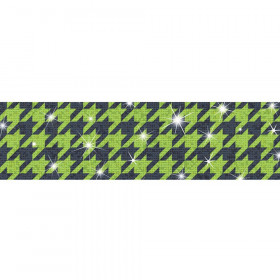 Houndstooth Green Bolder Borders® – Sparkle Plus