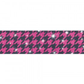 Houndstooth Pink Bolder Borders® – Sparkle Plus