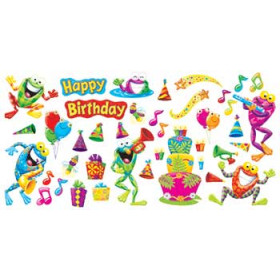 Frog Tastic Birthday Party Mini Bulletin Board Set