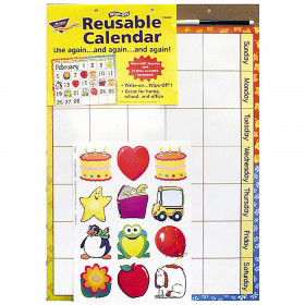 Reusable Calendar (Cling Accents) Wipe-Off? Kit
