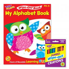 My Alphabet Book and Crayons Reusable Wipe-Off Activity Set
