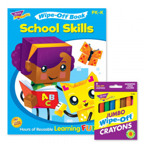 School Skills and Crayons Reusable Wipe-Off Activity Set