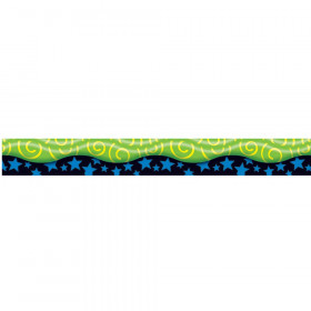 New Wave Swirls Yellow & Green 12Pk Trimmers Scalloped Edge 2.25X39 Tl