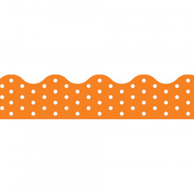 Polka Dots Orange Terrific Trimmers, 39 ft