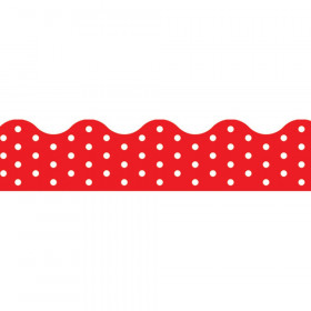 Polka Dots Red Terrific Trimmers, 39 ft