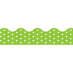 Polka Dots Lime Terrific Trimmers, 39 ft