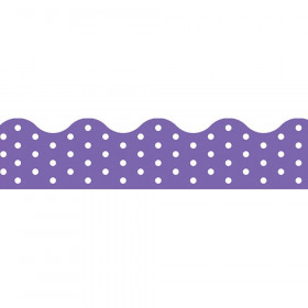 Polka Dots Purple Terrific Trimmers, 39 ft