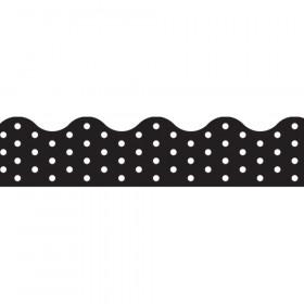 Polka Dots Black Terrific Trimmers, 39 ft