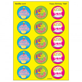Happy Birthday/Vanilla Stinky Stickers, 60 ct.