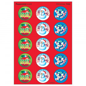 Christmas/Peppermint Stinky Stickers® – Large Round