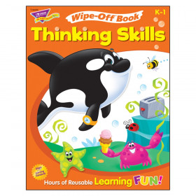 Thinking Skills Wipe-Off Book, 28 pgs