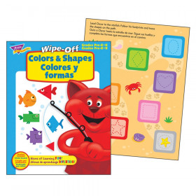 Colors & Shapes/Colores y formas Wipe-Off Book