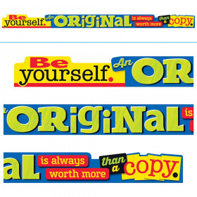 Be yourself. An ORIGINAL is... ARGUS Banners, 10 ft.