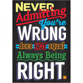 NEVER Admitting You're WRONG... ARGUS® Poster