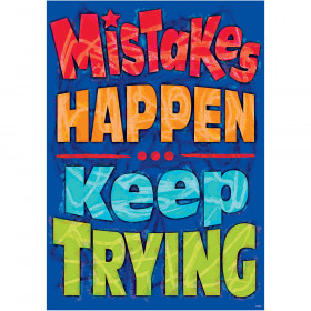 Mistakes Happen Keep Trying Poster Argus