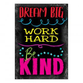 "DREAM BIG WORK HARD Be KIN ARGUS Poster, 13.375"" x 19"""