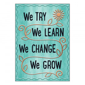 """We TRY We LEARN We Change ARGUS Poster, 13.375"""" x 19"""""""